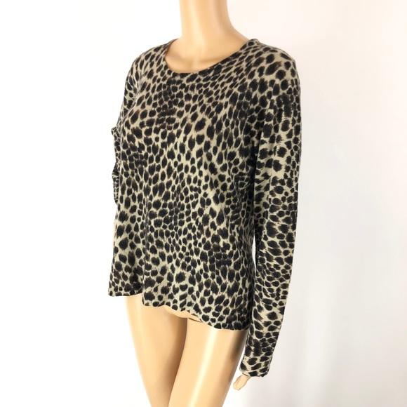 cb1293097d64 Carolyn Taylor Sweaters | Leopard Print Sweater Top Sz Large | Poshmark